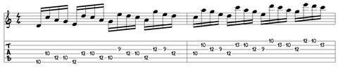 Noten-Tabulatur-Beispiel aus E-Gitarre Training (Lehrheft)