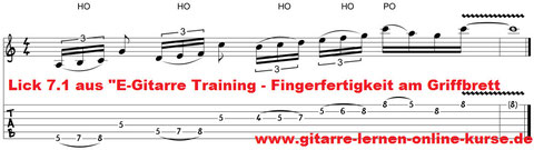 E-Gitarre Lick (Rock) Noten & Tabulatur gratis