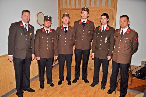 Beförderung zum Hauptfeuerwehrmann: Martin Eberl, Martin Hahn und Klaus Falschlunger