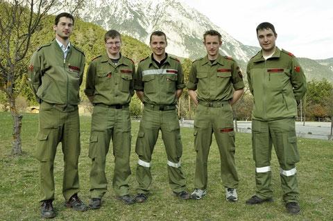 v.l.: Georg Crepaz, Simon Riedl, Christoph Eberl, Clemens Weber, Thomas Tanzer