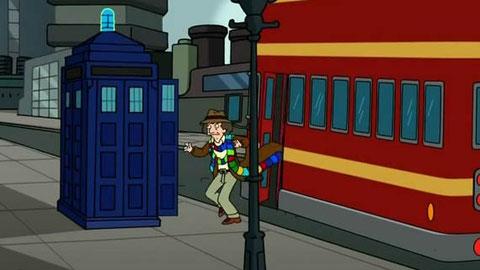 El (cuarto) Doctor Who se pasa por Futurama.