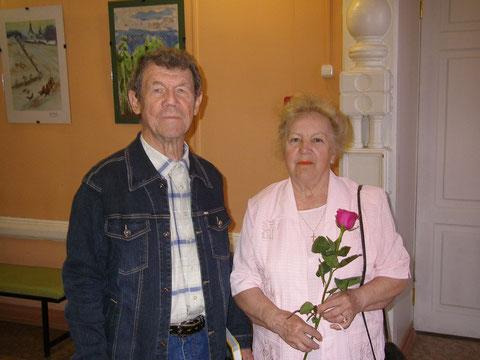 Творческий вечер поэта Фёдорова в Саратовском доме работников искусств_Преображенский с супругой_26 мая 2009 г.