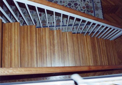 Treppenbelegung Fertigparkett Kambala versiegelt