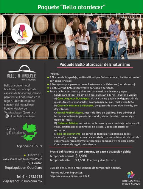 Para reservar, entra a www.viajesyenoturismo.com.mx