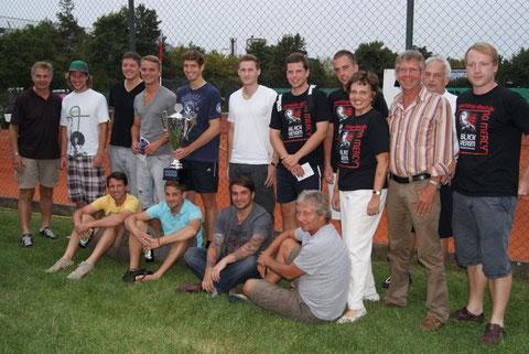 Sieger und Turnierletiung Freimanner Open