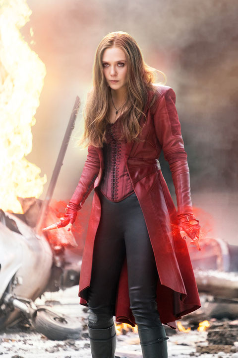 Captain America 3 - Elizabeth Olsen as Scarlet Witch - MARVEL - kulturmaterial