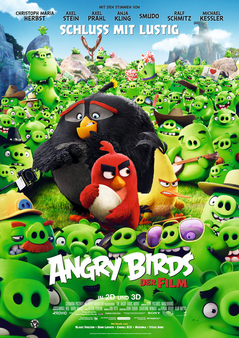 Angry Birds Film Movie - Rovio Entertainment - Sony Pictures - kulturmaterial - German Poster