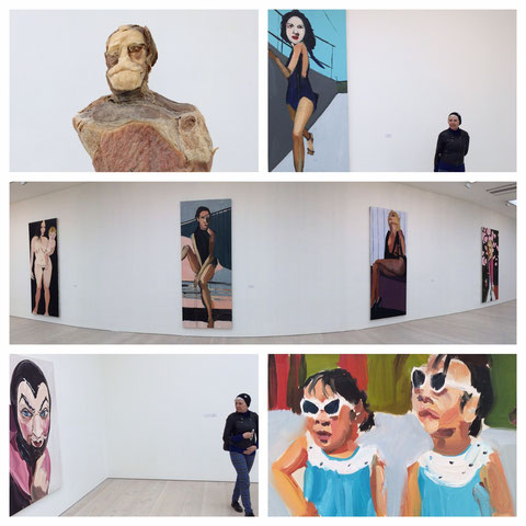 Mieke Drossaert visiting Saatchi Gallery