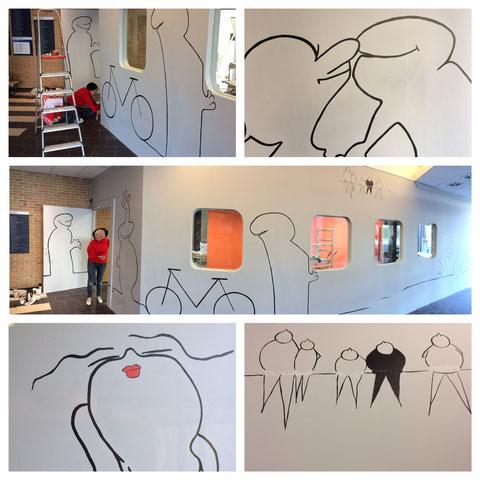 'Lifeline', muurschildering in Dagcentrum 'De Zwaluw' (Oostende)