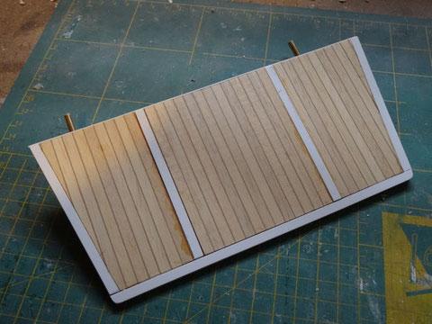 Fabrication de la plage de bain et de son plancher teck