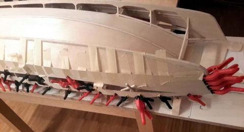 Bordé bâbord coté proue