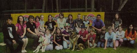 Artikel in Verdener Aller Zeitung (10.08.2011). Auf Foto ist Leona (4 Mon.alt) zu sehen