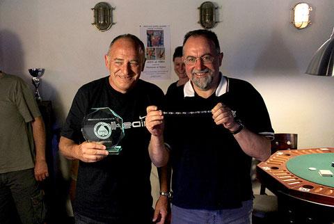 """Jean René Bertin,  """"ROI"""" de cette 11ème édition du championnat du Périgord poker club!"""