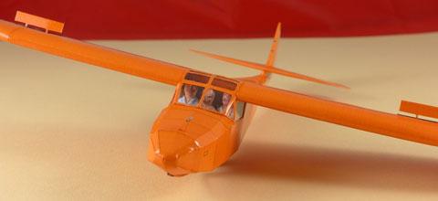 Castel C.25 S, C 25 S, Louis De Funes, Segelflugzeug Papier