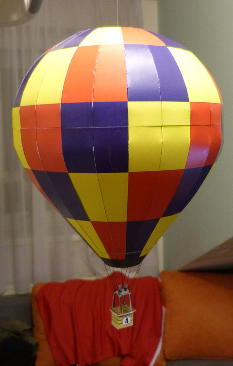 Modellballon, Modellballon Thomas Laux, hot air balloon paper kit, Modellballon Papier