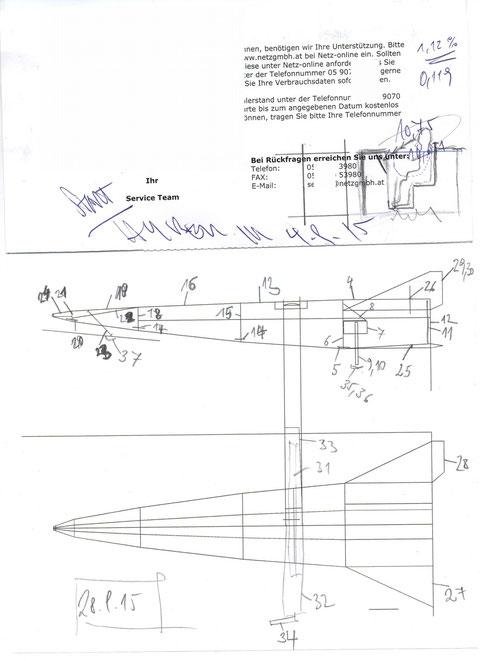 erste Skizze Bodenkontrollstation (4.9.15) und Nummerierung (28.09.15)