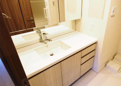 洗面所、洗面台のお掃除