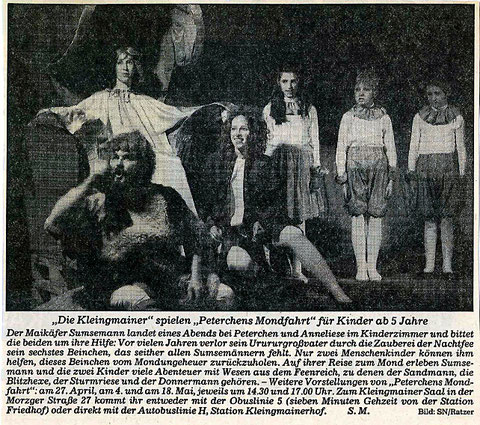 """""""Die Kleingmainer"""" spielen """"Peterchens Mondfahrt"""" für Kinder (1985)"""