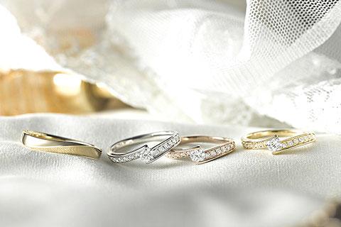 婚約指輪や結婚指輪として