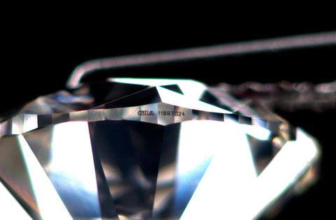 ダイヤモンドガードルの鑑定番号