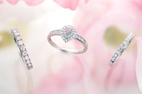 プラチナナチュラル(天然)ピンクダイヤモンドリング