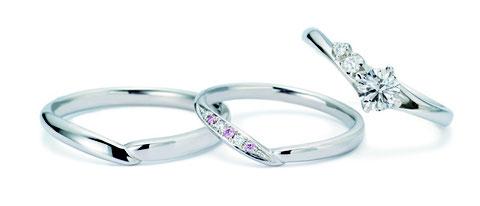 ファンファーレ婚約指輪+結婚指輪