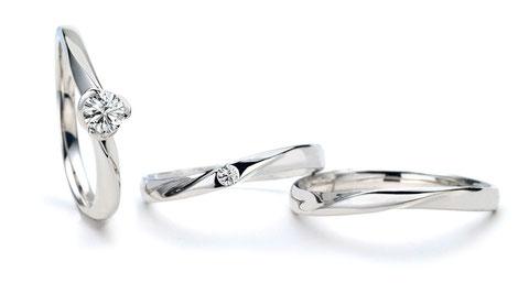 ラブノット婚約指輪+結婚指輪