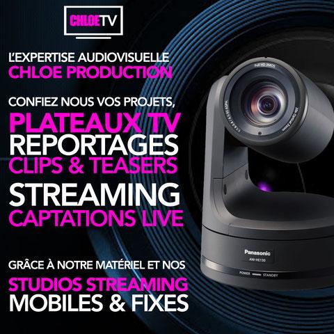 Chloe tv prestataire audiovisuel tarbes pau auch dax Hautes Pyrénées 65 Pyrénées atlantiques 64 landes 40 Gers 32
