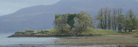 Les ruines de l'ancienne demeure des MacLachlan sur les rives du loch Fyne