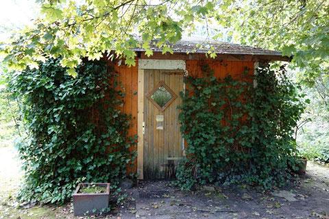 Foto des Holzhäuschens im Kulturpark