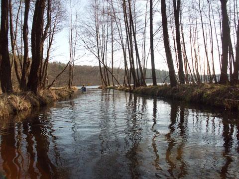 Einfahrt zum Oberen Krapsko See