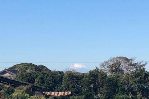 みかん園近くから見える富士山の写真