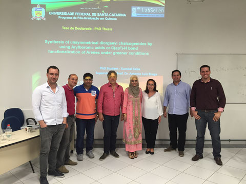 Defense (PhD) of Sumbal Saba, 03-March-2016