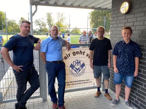 v. lks.: Daniel Bosbach, Dieter Janßen, Reimund Hartinger, Sebastian Blum