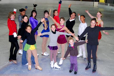 Patineurs du l'école de glace des 3 Seine à Troyes - Club de patinage artistique