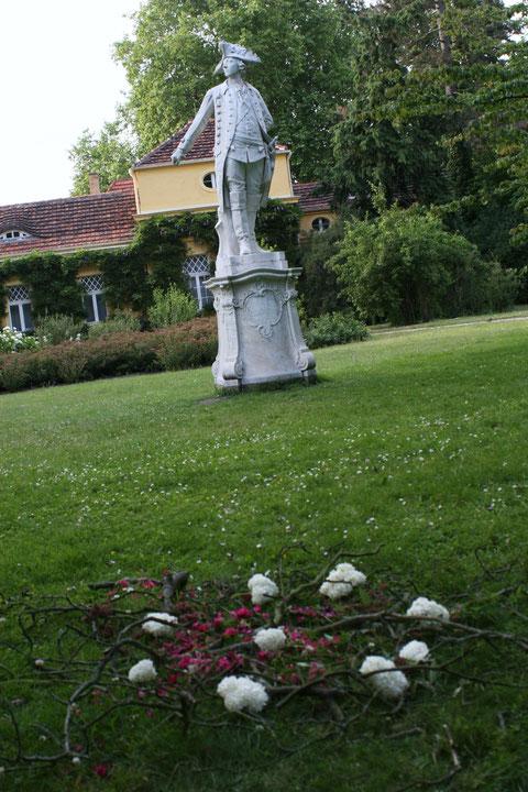 ErdengoldKUNSTwerk Mandala für Friedrich den Großen, Park Schloss Sanssouci Potsdam, Foto Nathalie Arun