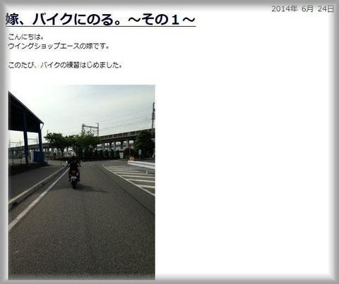 ブログ『嫁、バイクに乗る。~その1~』より