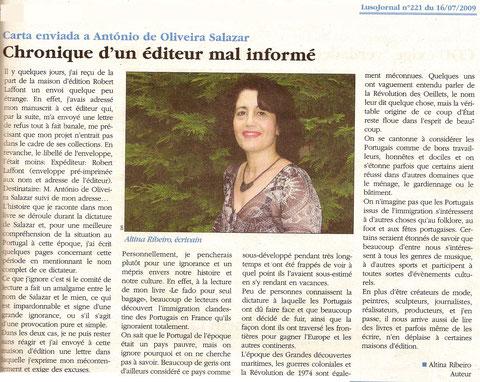 LUSOJORNAL n° 221 du 16 juillet 2009