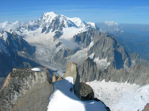 mont blanc sommet droites