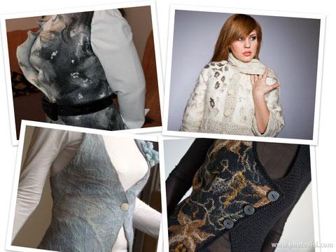 Одежда из войлока, авторский трикотаж, одежда из шерсти,вязанная одежда