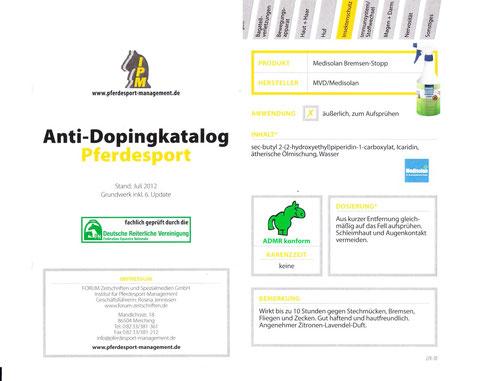 Dopingfrei ! laut  ADMR