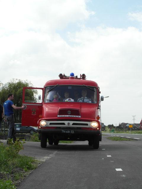 rondje oude brandweerauto
