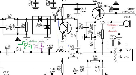 Esquema modificacion modulacion baja Baofeng UV-5R