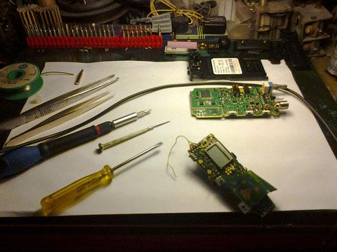 .Desguazanzo antigua placa para la extraccion del micro potenciometro.