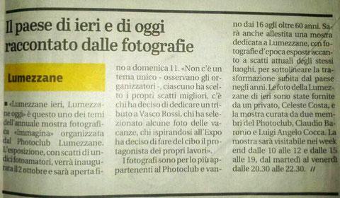 Giornale di Brescia 20-09-2015
