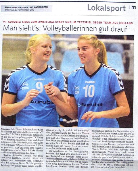 HAN 24.09.2012 - Charis Lüdtke u. Lara Schreiber