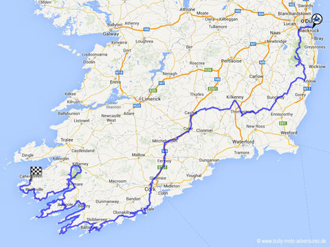 Route Irland Teil 1