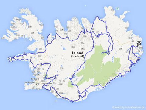 Gesamtroute Island
