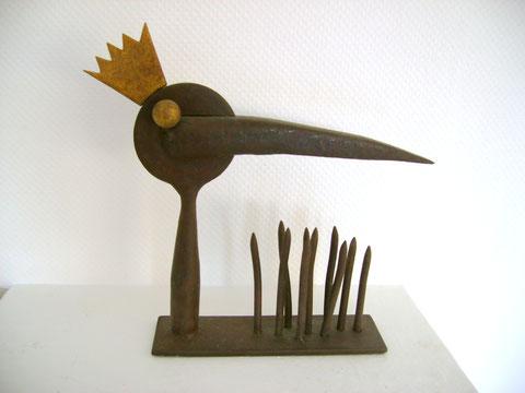 """""""STORCHENKÖNIG"""" (Material:Eisen, Höhe:0,40m, Breite:0,42m, Preis:390€)"""