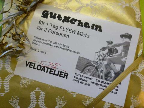 Geschenkgutschein E-Bike FLYER mieten